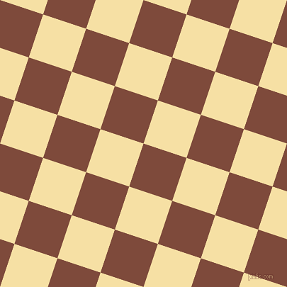 72/162 degree angle diagonal checkered chequered squares checker pattern checkers background, 64 pixel squares size, Nutmeg and Buttermilk checkers chequered checkered squares seamless tileable