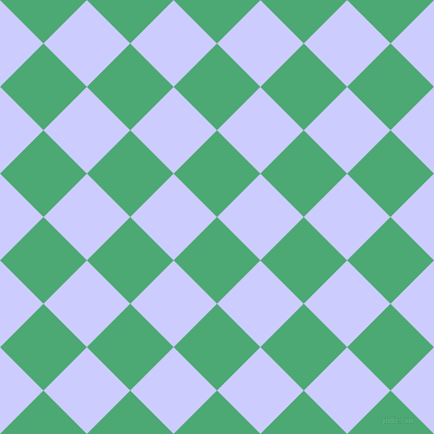 45/135 degree angle diagonal checkered chequered squares checker pattern checkers background, 68 pixel square size, , Ocean Green and Lavender Blue checkers chequered checkered squares seamless tileable