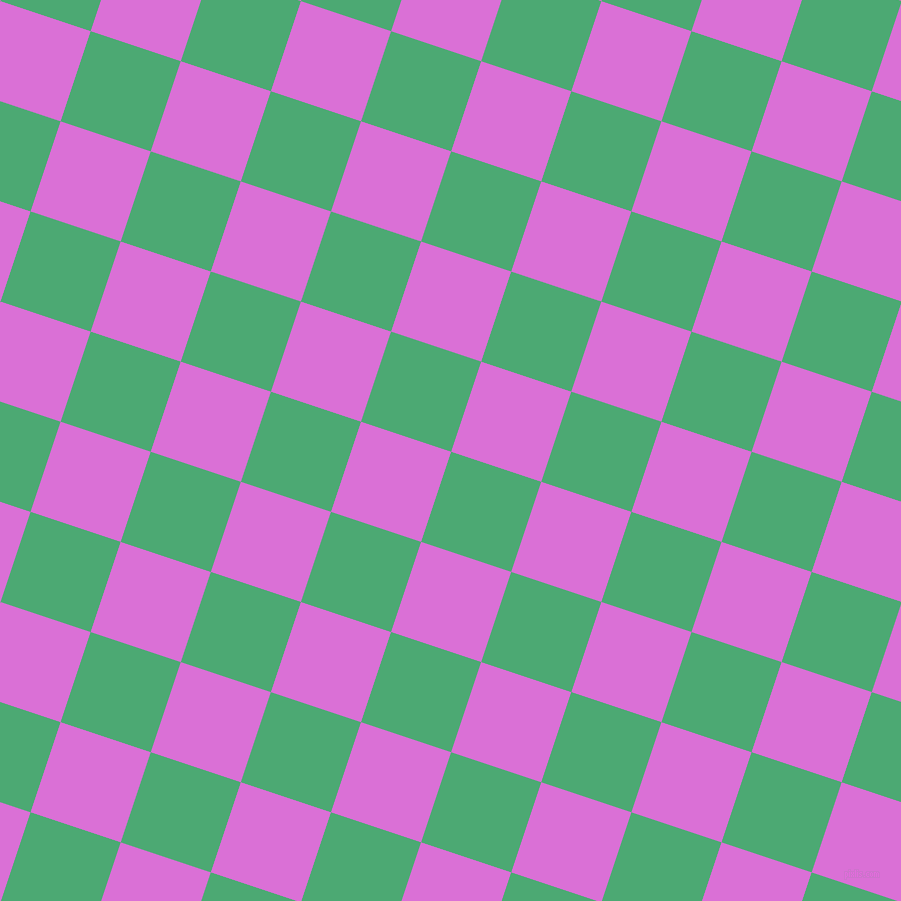 72/162 degree angle diagonal checkered chequered squares checker pattern checkers background, 95 pixel square size, , Ocean Green and Orchid checkers chequered checkered squares seamless tileable