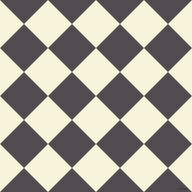 45/135 degree angle diagonal checkered chequered squares checker pattern checkers background, 111 pixel squares size, Off Yellow and Liver checkers chequered checkered squares seamless tileable