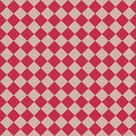 45/135 degree angle diagonal checkered chequered squares checker pattern checkers background, 33 pixel square size, , Old Rose and Clam Shell checkers chequered checkered squares seamless tileable