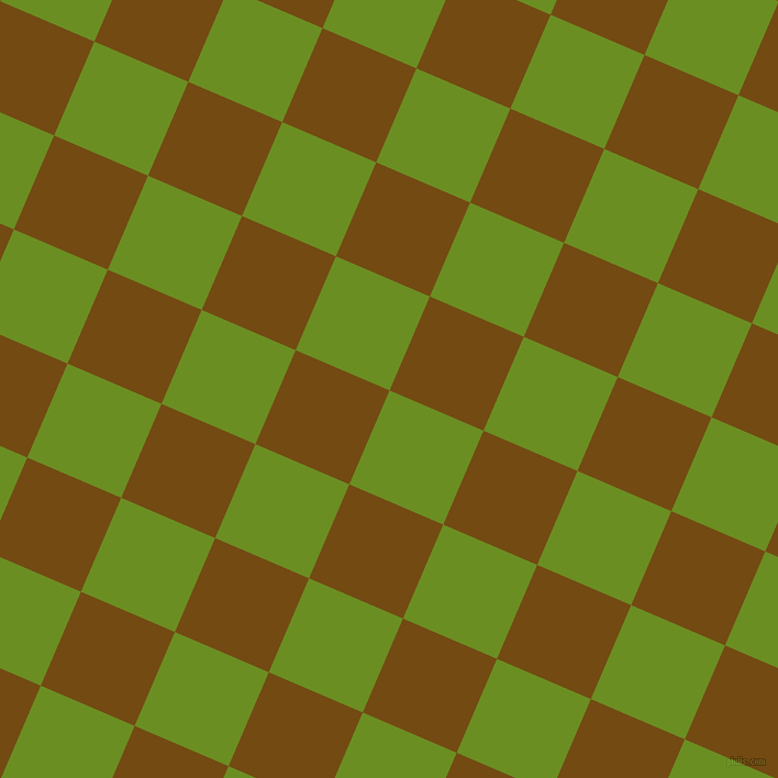 67/157 degree angle diagonal checkered chequered squares checker pattern checkers background, 93 pixel square size, , Olive Drab and Raw Umber checkers chequered checkered squares seamless tileable