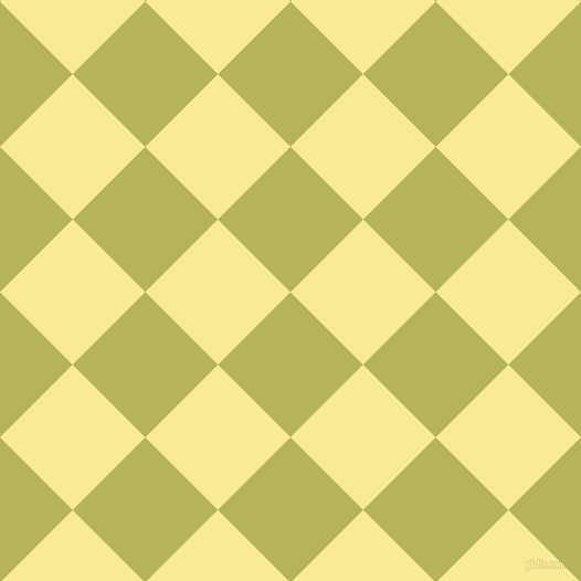 45/135 degree angle diagonal checkered chequered squares checker pattern checkers background, 93 pixel square size, , Olive Green and Picasso checkers chequered checkered squares seamless tileable