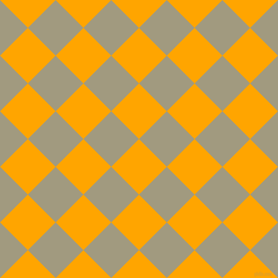 45/135 degree angle diagonal checkered chequered squares checker pattern checkers background, 81 pixel square size, , Orange and Grey Olive checkers chequered checkered squares seamless tileable