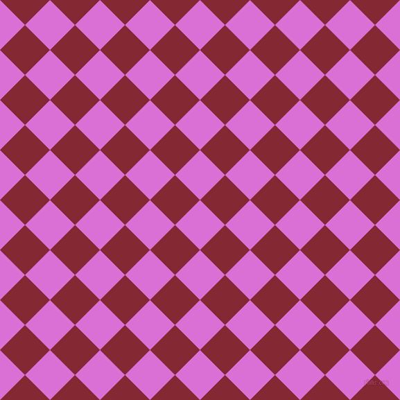 45/135 degree angle diagonal checkered chequered squares checker pattern checkers background, 51 pixel square size, , Orchid and Shiraz checkers chequered checkered squares seamless tileable