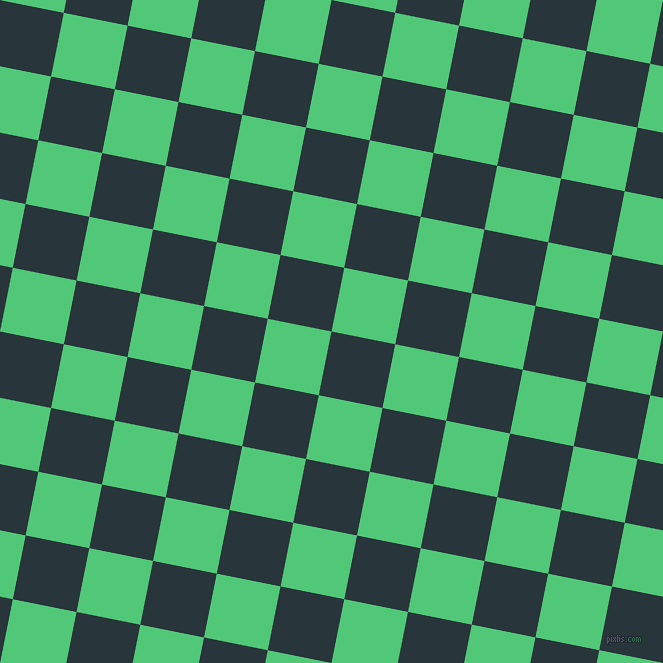 79/169 degree angle diagonal checkered chequered squares checker pattern checkers background, 65 pixel square size, , Oxford Blue and Emerald checkers chequered checkered squares seamless tileable