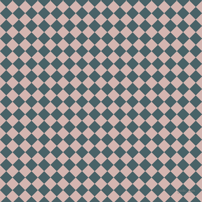45/135 degree angle diagonal checkered chequered squares checker pattern checkers background, 18 pixel squares size, , Oyster Pink and Smalt Blue checkers chequered checkered squares seamless tileable