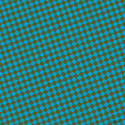 63/153 degree angle diagonal checkered chequered squares checker pattern checkers background, 13 pixel square size, , Pacific Blue and Saratoga checkers chequered checkered squares seamless tileable