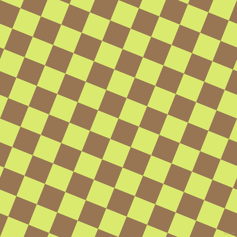 68/158 degree angle diagonal checkered chequered squares checker pattern checkers background, 75 pixel square size, , Pale Brown and Mindaro checkers chequered checkered squares seamless tileable