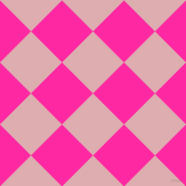 45/135 degree angle diagonal checkered chequered squares checker pattern checkers background, 145 pixel square size, , Pale Chestnut and Persian Rose checkers chequered checkered squares seamless tileable