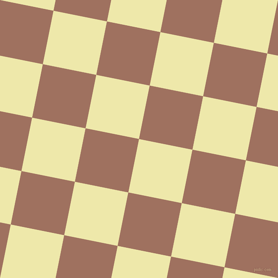 79/169 degree angle diagonal checkered chequered squares checker pattern checkers background, 110 pixel square size, Pale Goldenrod and Toast checkers chequered checkered squares seamless tileable