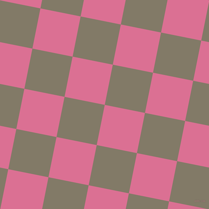 79/169 degree angle diagonal checkered chequered squares checker pattern checkers background, 132 pixel square size, , Pale Violet Red and Arrowtown checkers chequered checkered squares seamless tileable