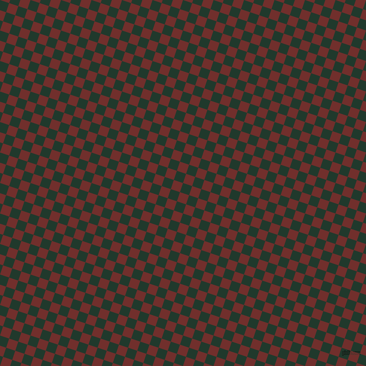 72/162 degree angle diagonal checkered chequered squares checker pattern checkers background, 19 pixel squares size, , Palm Green and Auburn checkers chequered checkered squares seamless tileable