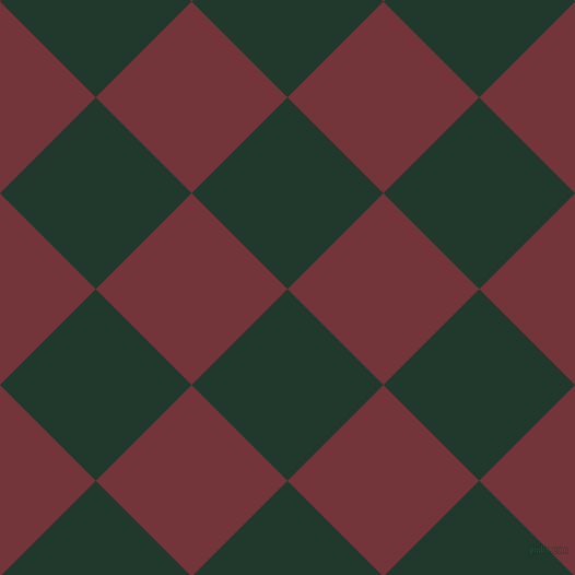 45/135 degree angle diagonal checkered chequered squares checker pattern checkers background, 124 pixel square size, , Palm Green and Merlot checkers chequered checkered squares seamless tileable