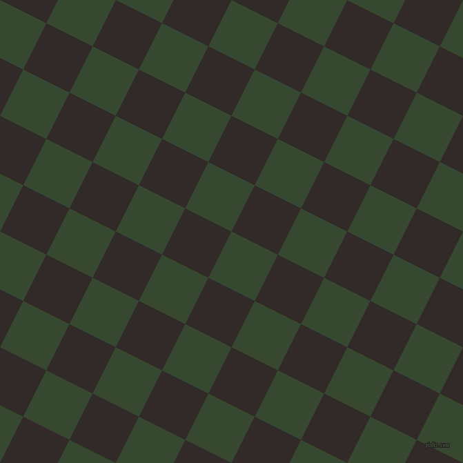 63/153 degree angle diagonal checkered chequered squares checker pattern checkers background, 75 pixel square size, , Palm Leaf and Livid Brown checkers chequered checkered squares seamless tileable