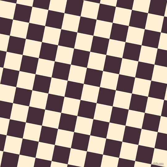 79/169 degree angle diagonal checkered chequered squares checker pattern checkers background, 53 pixel squares size, , Papaya Whip and Barossa checkers chequered checkered squares seamless tileable