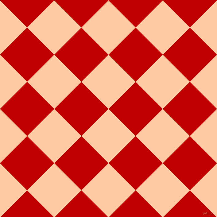 45/135 degree angle diagonal checkered chequered squares checker pattern checkers background, 125 pixel squares size, , Peach and Free Speech Red checkers chequered checkered squares seamless tileable