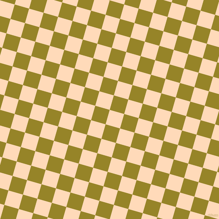 74/164 degree angle diagonal checkered chequered squares checker pattern checkers background, 52 pixel square size, , Peach Puff and Lemon Ginger checkers chequered checkered squares seamless tileable