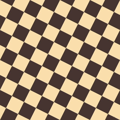 63/153 degree angle diagonal checkered chequered squares checker pattern checkers background, 56 pixel square size, , Peach-Yellow and Cedar checkers chequered checkered squares seamless tileable