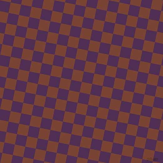 79/169 degree angle diagonal checkered chequered squares checker pattern checkers background, 34 pixel square size, , Peanut and Hot Purple checkers chequered checkered squares seamless tileable