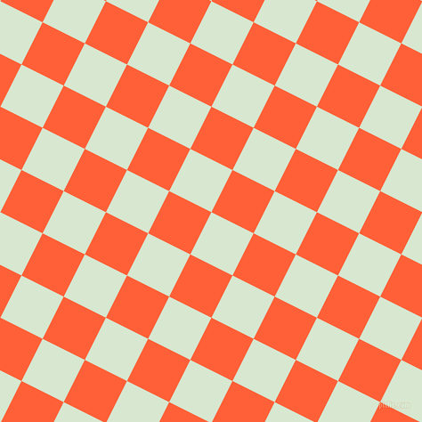 63/153 degree angle diagonal checkered chequered squares checker pattern checkers background, 53 pixel square size, , Peppermint and Outrageous Orange checkers chequered checkered squares seamless tileable