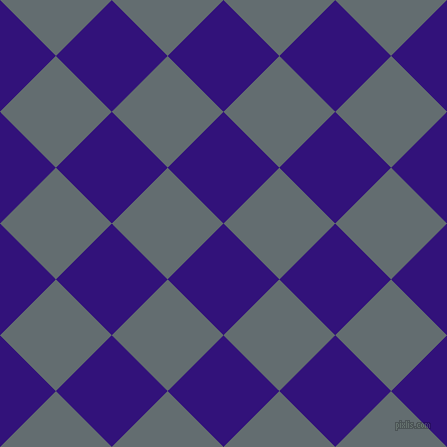 45/135 degree angle diagonal checkered chequered squares checker pattern checkers background, 79 pixel squares size, , Persian Indigo and Pale Sky checkers chequered checkered squares seamless tileable
