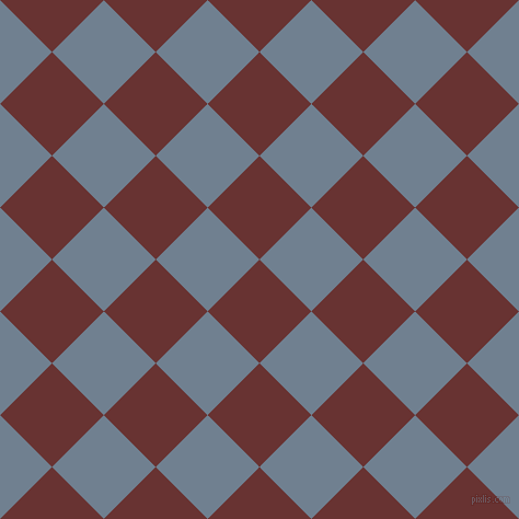 45/135 degree angle diagonal checkered chequered squares checker pattern checkers background, 67 pixel squares size, , Persian Plum and Slate Grey checkers chequered checkered squares seamless tileable