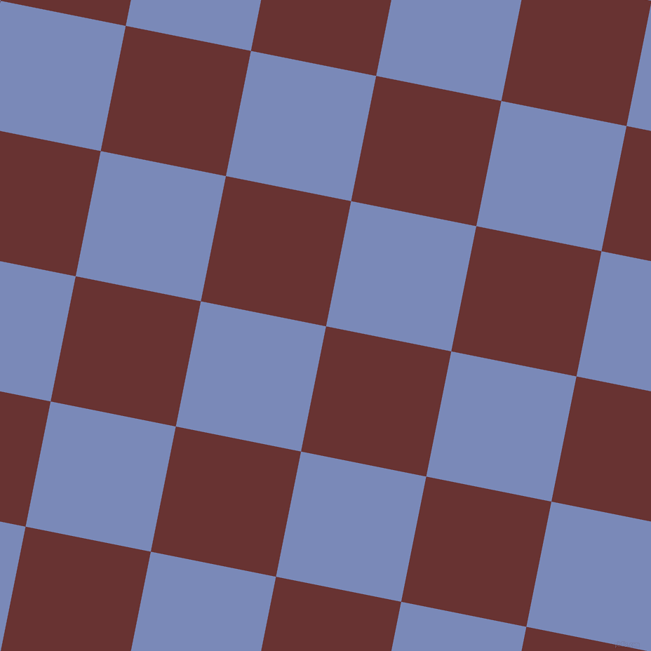 79/169 degree angle diagonal checkered chequered squares checker pattern checkers background, 182 pixel square size, , Persian Plum and Wild Blue Yonder checkers chequered checkered squares seamless tileable