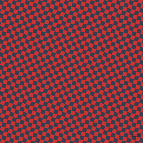 72/162 degree angle diagonal checkered chequered squares checker pattern checkers background, 14 pixel squares size, , Persian Red and Cloud Burst checkers chequered checkered squares seamless tileable