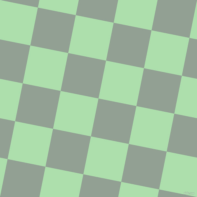 79/169 degree angle diagonal checkered chequered squares checker pattern checkers background, 131 pixel square size, , Pewter and Moss Green checkers chequered checkered squares seamless tileable