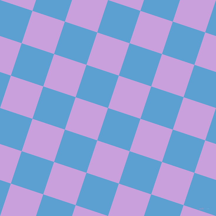 72/162 degree angle diagonal checkered chequered squares checker pattern checkers background, 116 pixel square size, , Picton Blue and Wisteria checkers chequered checkered squares seamless tileable