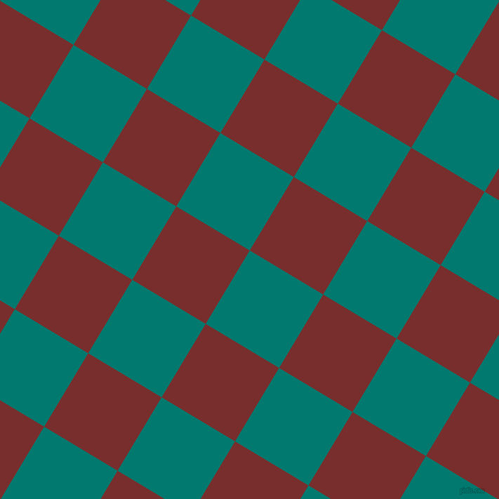 59/149 degree angle diagonal checkered chequered squares checker pattern checkers background, 122 pixel squares size, , Pine Green and Lusty checkers chequered checkered squares seamless tileable