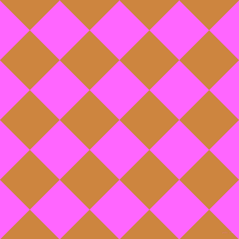 45/135 degree angle diagonal checkered chequered squares checker pattern checkers background, 136 pixel squares size, , Pink Flamingo and Peru checkers chequered checkered squares seamless tileable