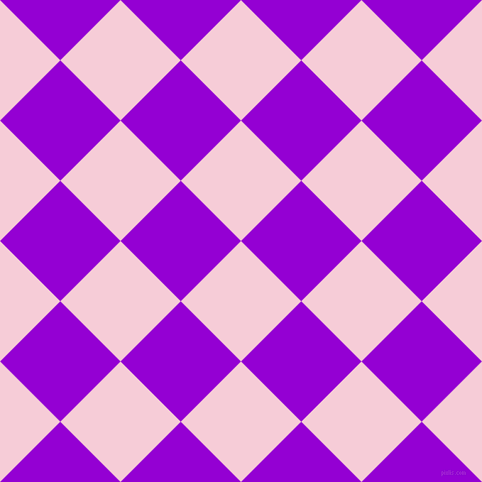 45/135 degree angle diagonal checkered chequered squares checker pattern checkers background, 120 pixel squares size, , Pink Lace and Dark Violet checkers chequered checkered squares seamless tileable