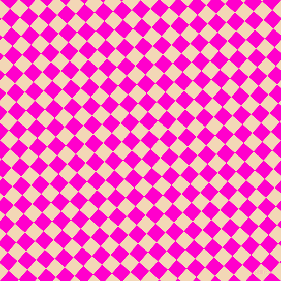49/139 degree angle diagonal checkered chequered squares checker pattern checkers background, 26 pixel square size, , Pink Lady and Hot Magenta checkers chequered checkered squares seamless tileable