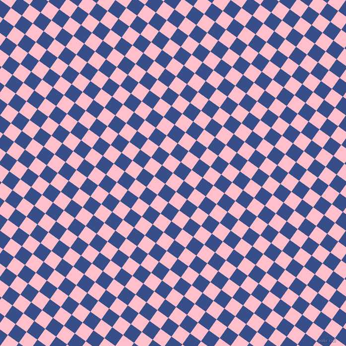 54/144 degree angle diagonal checkered chequered squares checker pattern checkers background, 27 pixel square size, , Pink and Tory Blue checkers chequered checkered squares seamless tileable