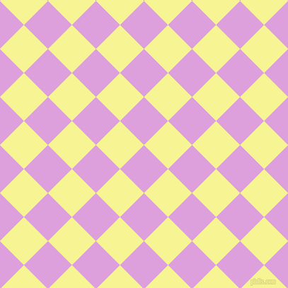 45/135 degree angle diagonal checkered chequered squares checker pattern checkers background, 48 pixel square size, , Plum and Milan checkers chequered checkered squares seamless tileable