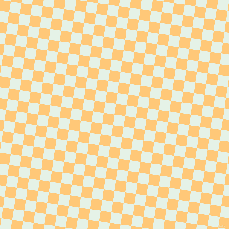 82/172 degree angle diagonal checkered chequered squares checker pattern checkers background, 46 pixel square size, , Polar and Chardonnay checkers chequered checkered squares seamless tileable