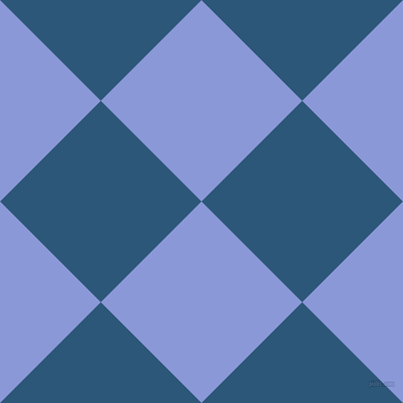 45/135 degree angle diagonal checkered chequered squares checker pattern checkers background, 200 pixel square size, , Portage and Venice Blue checkers chequered checkered squares seamless tileable