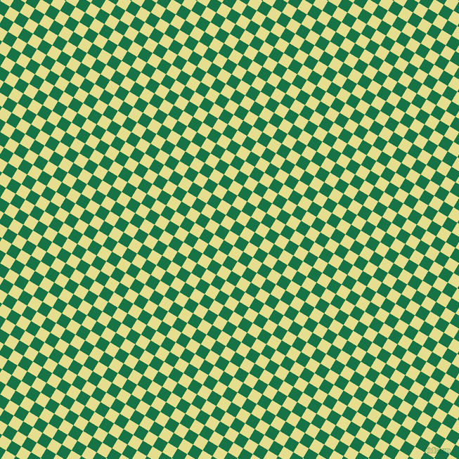 59/149 degree angle diagonal checkered chequered squares checker pattern checkers background, 16 pixel square size, Primrose and Dark Spring Green checkers chequered checkered squares seamless tileable