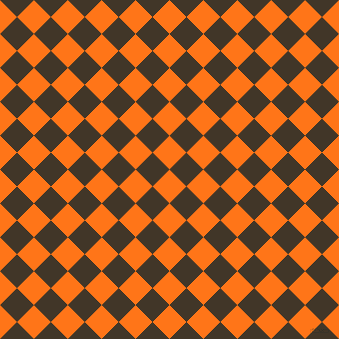 45/135 degree angle diagonal checkered chequered squares checker pattern checkers background, 48 pixel square size, , Pumpkin and Jacko Bean checkers chequered checkered squares seamless tileable