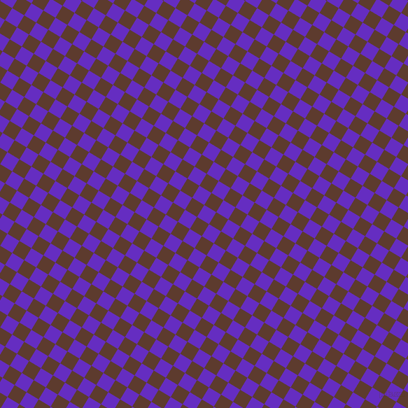 59/149 degree angle diagonal checkered chequered squares checker pattern checkers background, 20 pixel squares size, , Purple Heart and Cioccolato checkers chequered checkered squares seamless tileable