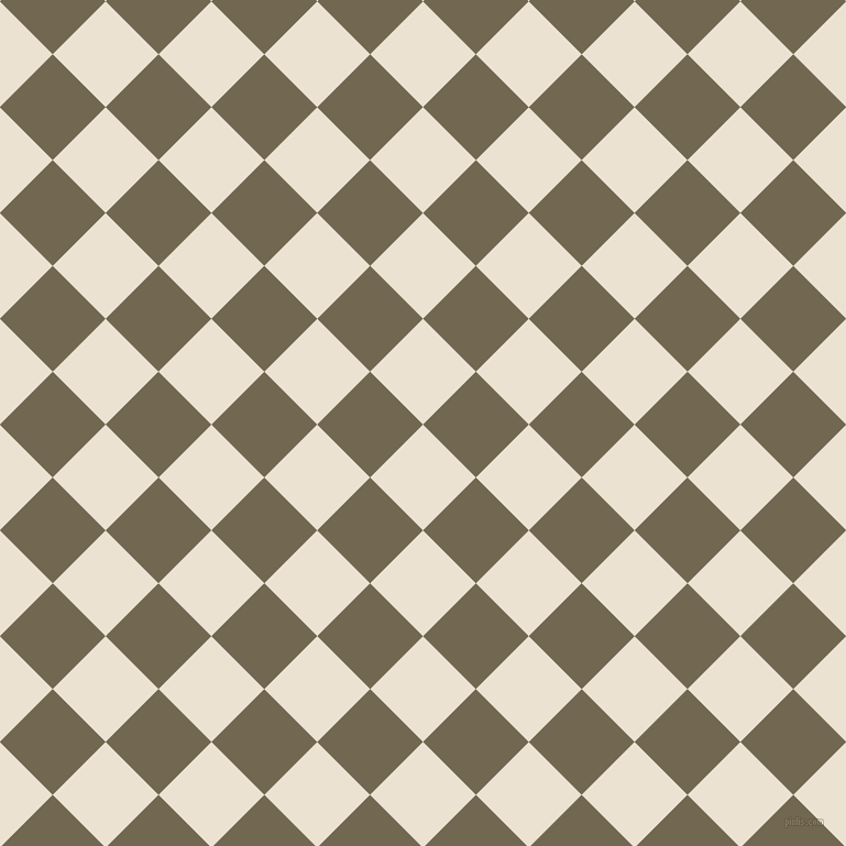 45/135 degree angle diagonal checkered chequered squares checker pattern checkers background, 68 pixel square size, , Quarter Spanish White and Coffee checkers chequered checkered squares seamless tileable