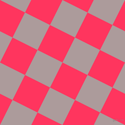 63/153 degree angle diagonal checkered chequered squares checker pattern checkers background, 91 pixel squares size, , Radical Red and Dusty Grey checkers chequered checkered squares seamless tileable
