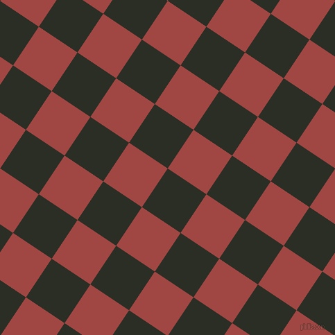 56/146 degree angle diagonal checkered chequered squares checker pattern checkers background, 67 pixel squares size, , Rangoon Green and Roof Terracotta checkers chequered checkered squares seamless tileable