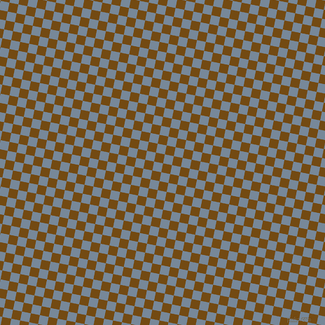 79/169 degree angle diagonal checkered chequered squares checker pattern checkers background, 13 pixel square size, , Raw Umber and Light Slate Grey checkers chequered checkered squares seamless tileable