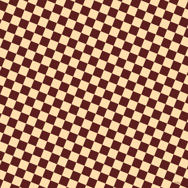 68/158 degree angle diagonal checkered chequered squares checker pattern checkers background, 28 pixel square size, , Red Oxide and Navajo White checkers chequered checkered squares seamless tileable