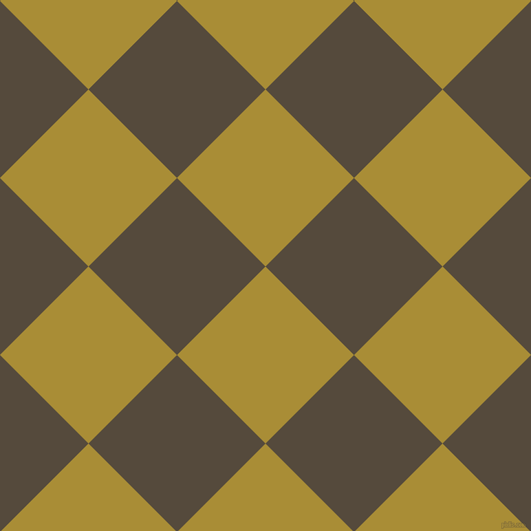 45/135 degree angle diagonal checkered chequered squares checker pattern checkers background, 182 pixel square size, , Reef Gold and Metallic Bronze checkers chequered checkered squares seamless tileable