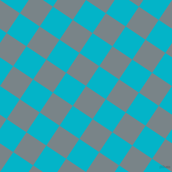 56/146 degree angle diagonal checkered chequered squares checker pattern checkers background, 80 pixel squares size, , Regent Grey and Iris Blue checkers chequered checkered squares seamless tileable