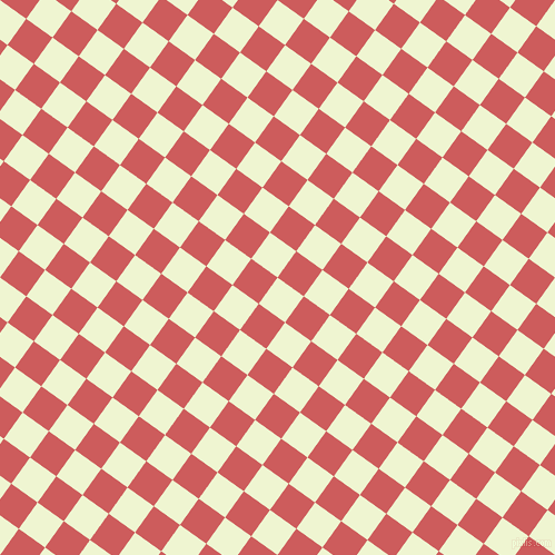 54/144 degree angle diagonal checkered chequered squares checker pattern checkers background, 29 pixel square size, , Rice Flower and Indian Red checkers chequered checkered squares seamless tileable